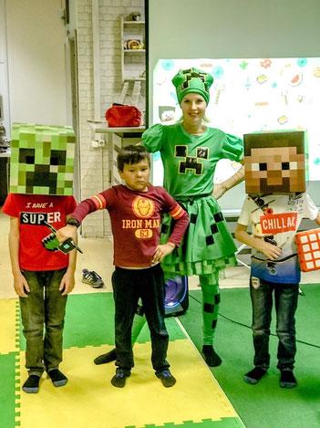 майнкрафт вечеринка для детей на детский праздник в Москве