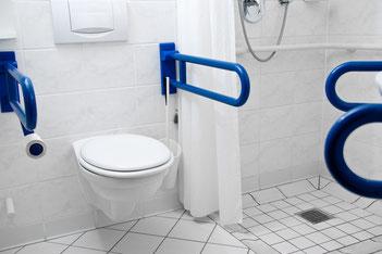 Erleichtern das selbstständigen setzen und Aufstehen - in die Dusche kommt man auch mit Rollator