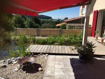 Neuanlagen, Gartengestaltung, Amriswil, Lorandi, Biotop, Holzrost