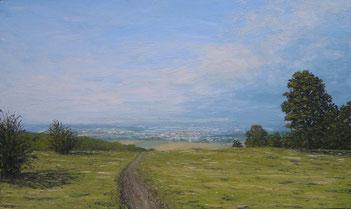 Blick vom Egelsberg (Öl auf Leinwand, 30 x 50 cm)