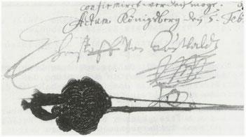 Signum des Generals, 1655.