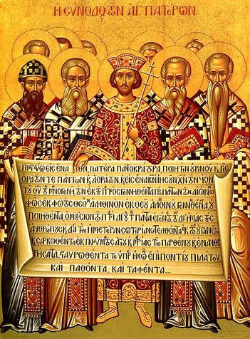 Les premiers empereurs romains chrétiens (Constantin 1er et Théodose 1er) se sont autoproclamés guides spirituels et ont présidé sur des grandes questions d'une importance capitale pour les chrétiens comme la doctrine de la Trinité et la Pâque.