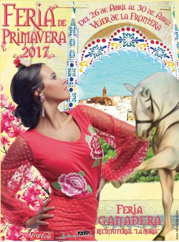 Programa y cartel de la Feria de Primavera en Vejer de la Frontera
