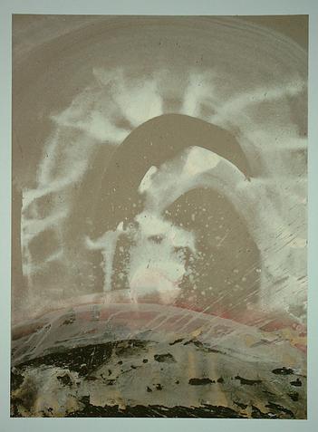 Energiespiel - Gouache Acryl-Papier, 2007 (90x70)