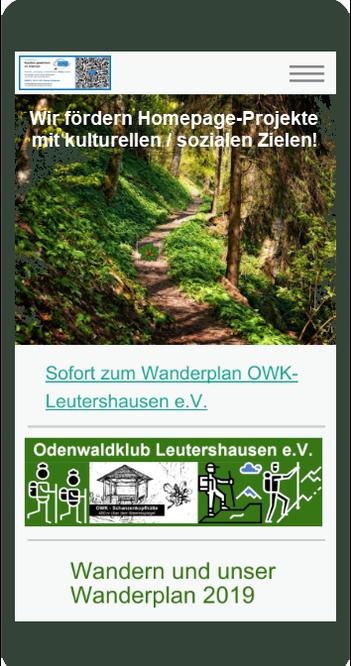 2019 Übergabe der Homepage: Pflege durch Verein