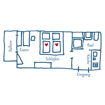 Grundriss Appartement 01 – Rosina