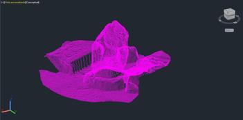 Modelo en Cad definido por polilineas
