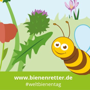 Biene, Blumen, Weltbienentag
