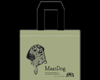 Hundeliebhaber können mit der Tasche, auf der unser Reico Hund Paul zu sehen ist, ein Statement setzen.
