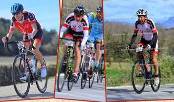 Nos trois coureurs dans la Drôme...