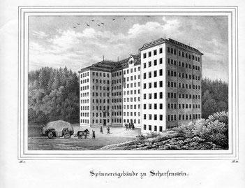 Spinnerei Scharfenstein (Lithographie)