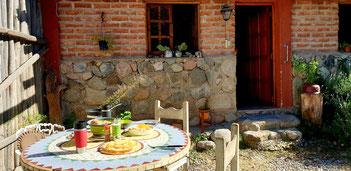 Unser wunderschöner Garten bei den Cabañas De Montaña Rio Amarillo