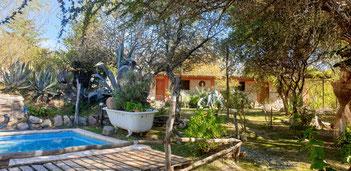 Unser Cabaña am Rio Amarillo in Santa Florentina