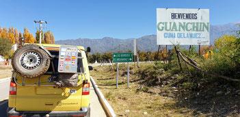 Gestrandet in Guanchin / Argentinien