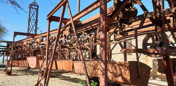 Transportgondeln der Materialseilbahn von Chilecito