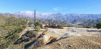 Estación 2 der einstigen Materialseilbahn zur Mina la Mejicana