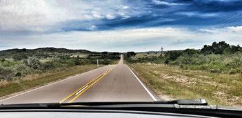Landstrasse in Uruguay