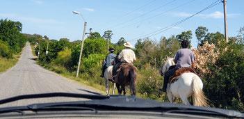 Gauchos sieht man überall in Uruguay
