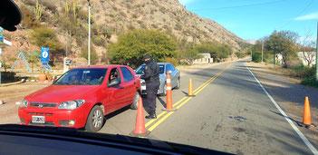 Polizeikontrolle vor Chilecito
