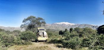 Traumhafte Aussicht auf den Cierro General Belgrano