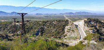 Ausblick von der Estacion 2 nach Chilecito