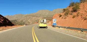 Auf der Ruta 40 Richtung Aicuña