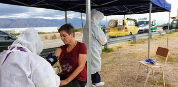Gesundheitstest in Vichigasta
