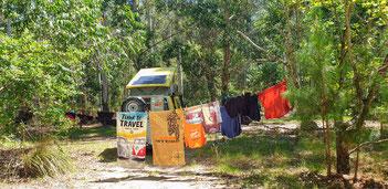 Waschtag im Wald von Salto