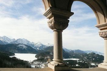 König Ludwig Balkon auf Schloss Neuschwanstein