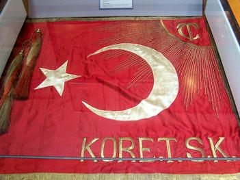 Standarte der türkischen Brigade während des Koreakriegs