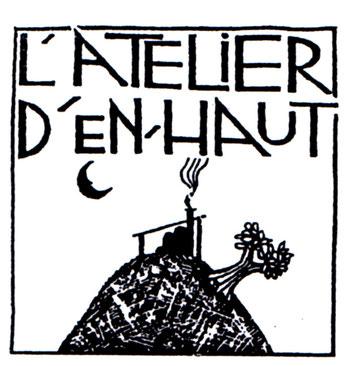 Logo de l'atelier d'en haut, grès au sel , Armelle Barbero