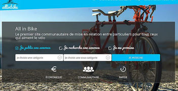 allinbike site internet page d'acceuil