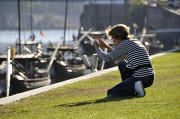 Enca à l'oeuvre,sur les quais du DOURO Portugal 07.2010