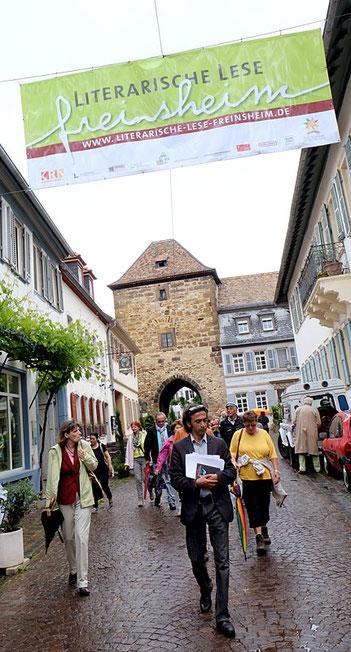 Freinsheim: Das mittelalterliche Städtchen voller Poesie bietet einen idealen Standort für die Literarische Lese. Fotos: Kulturverein Freinsheim
