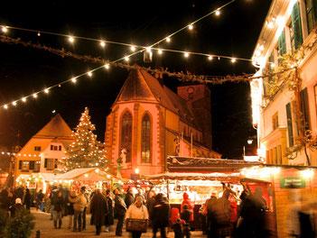 Die Cittaslow Deidesheim bietet für den Weihnachtsmarkt eine einmalige Kulisse.