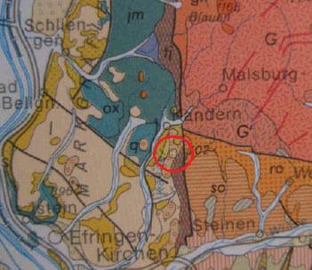 Das Pfeifenerdevorkommen bei Kandern in Südschwarzwald