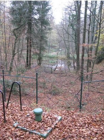Zugang zur Brunnenstube am Kaufmannsbrunnen