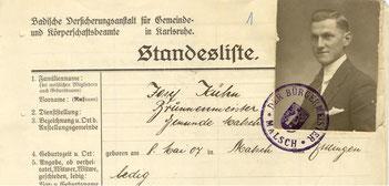 Schlossermeister Josef Kühn wird ab 29.1.1934 neuer Brunnenmeister in Malschj