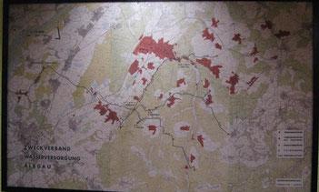 Gesamtplan der Nutzer des Wassers vom Zweckverband Albgau (ZWA)