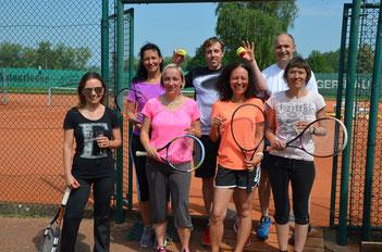 Andreas Gruhler freute sich über die vielen tennisinteressierten Schnupperer
