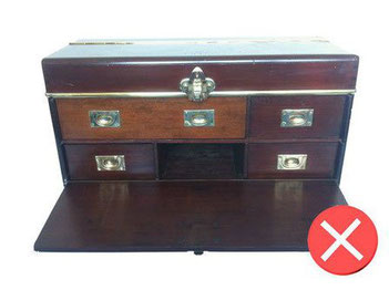 custom purchase trunk not authentic mahogany