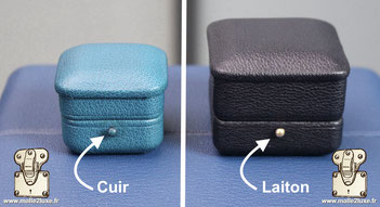 system fermeture ecrin haute joaillerie cuir bijoux