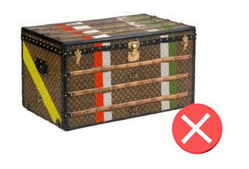 False bands Vuitton trunk louis