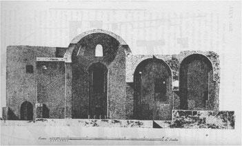 Sezione dell'arena dell'Anfiteatro