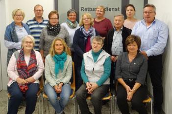 Eva-Maria Fruth zusammen mit den Seminarteilnehmern, Foto: BRK Neumarkt