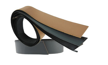 leather lining for mans hat, width 4cm, length up to 67cm. colours: black, grey, light and dark brown