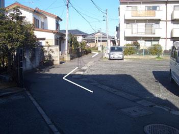 殿屋敷の道 萩園 茅ヶ崎