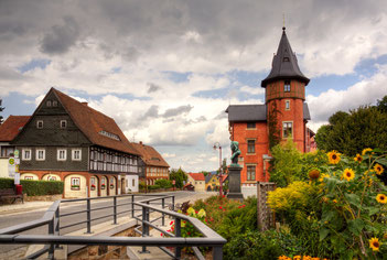 Waltersdorf mit dem kaiserlichen Postamt