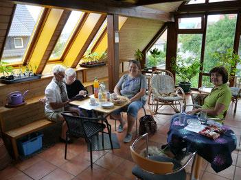 Gärtnerinnen des Gärtnerhof Jeutter Faurndau/Göppingen bei mit zu Besuch