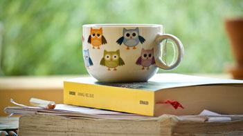 知恵の神ふくろうのカップの写真herbal-tea-4232777_1280